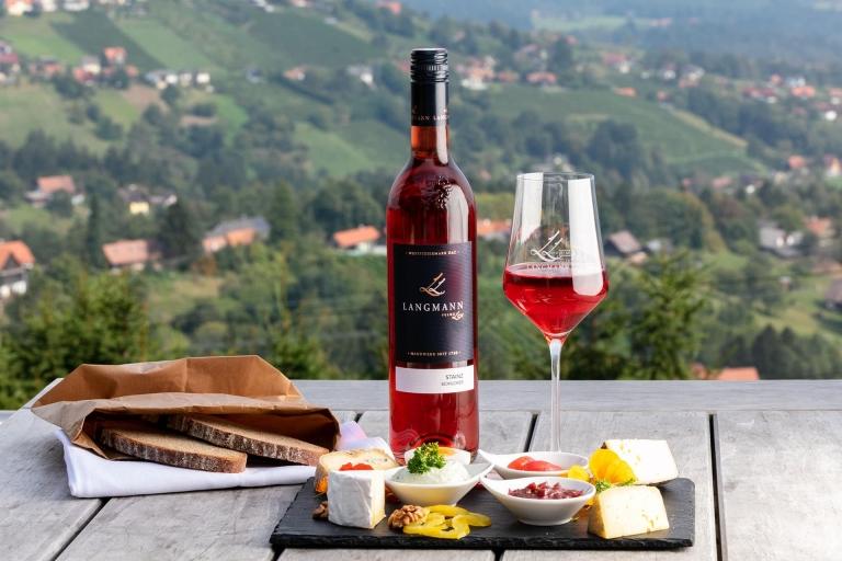 Schilcher Stainz vom Weingut Langmann mit Käseteller