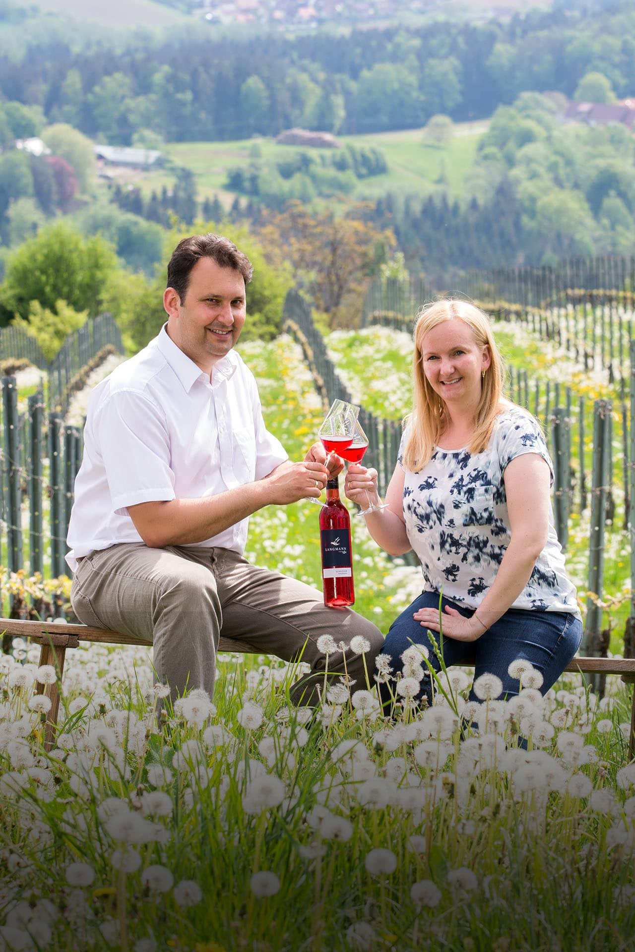 Daniela und Stefan Langmann vom Weingut Langmann, Langegg, West-Steiermark